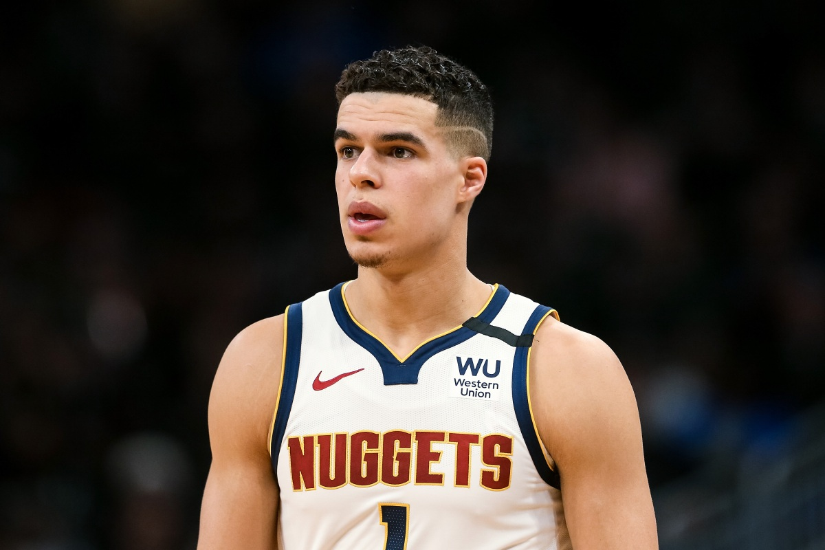 Michael Porter Jr. of the Denver Nuggets walks across the court. (Dylan Buell/Getty)