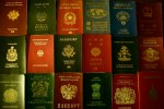 A variety of passports laid out