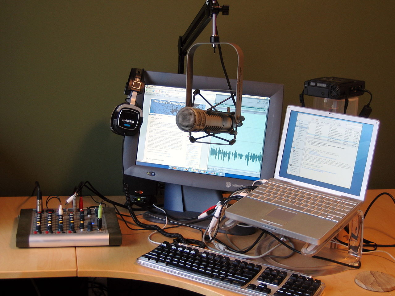 Podcast equipment