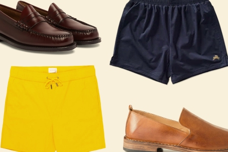 shorts and loafers