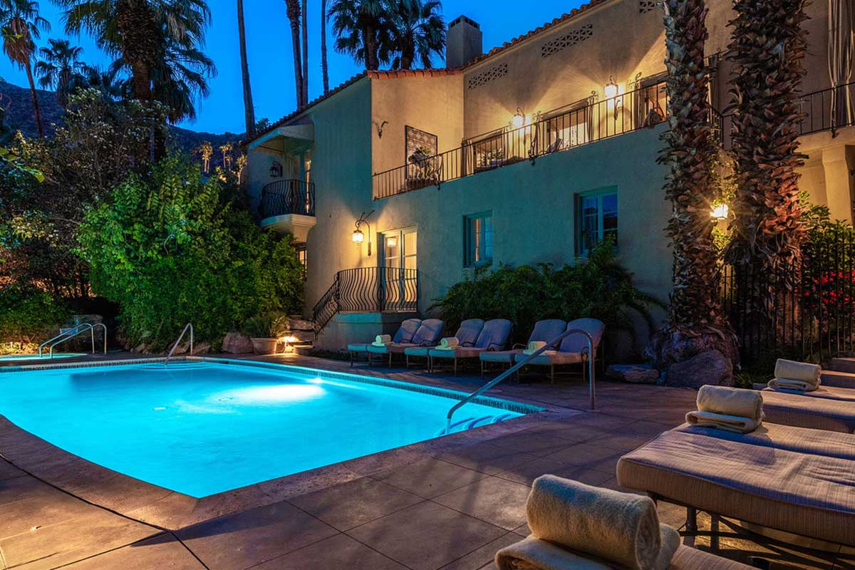 The pool at the Willows Palm Springs