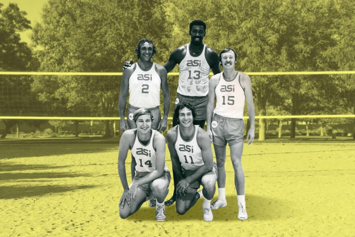 Wilt Chamberlain volleyball