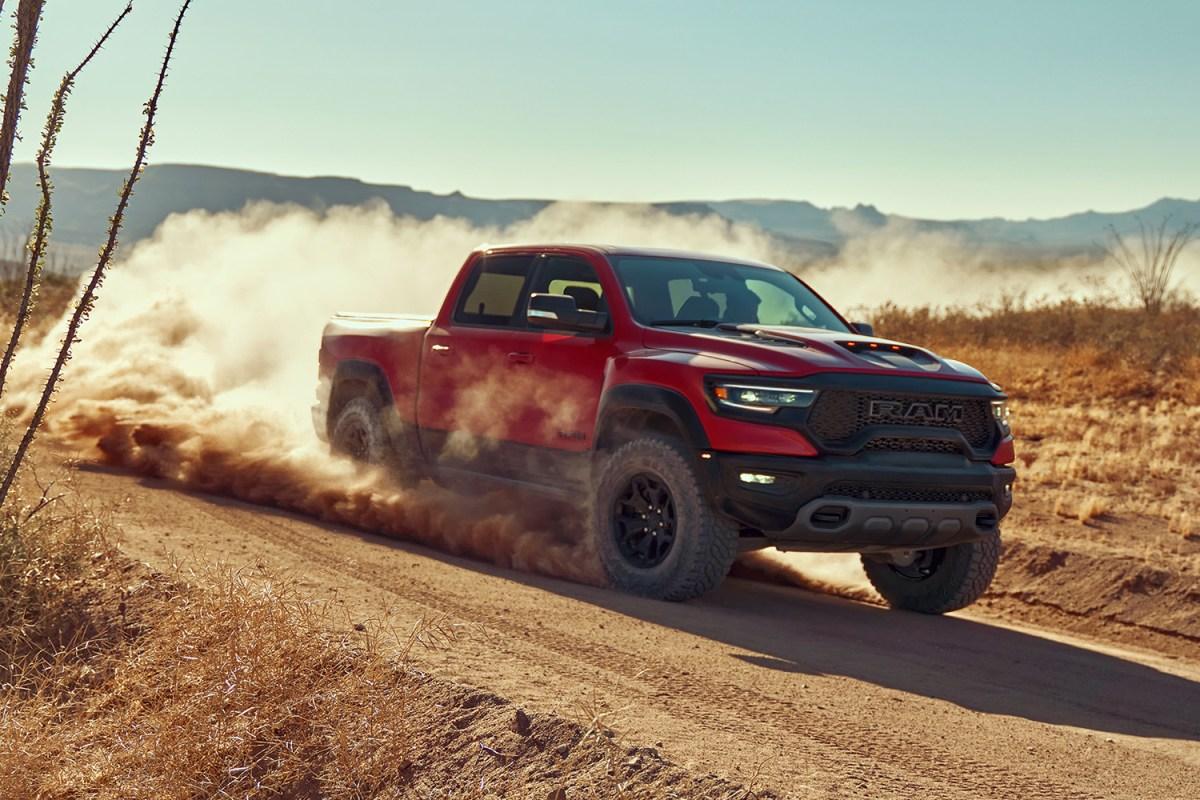 2021 Ram 1500 TRX high-performance pickup truck in the deset