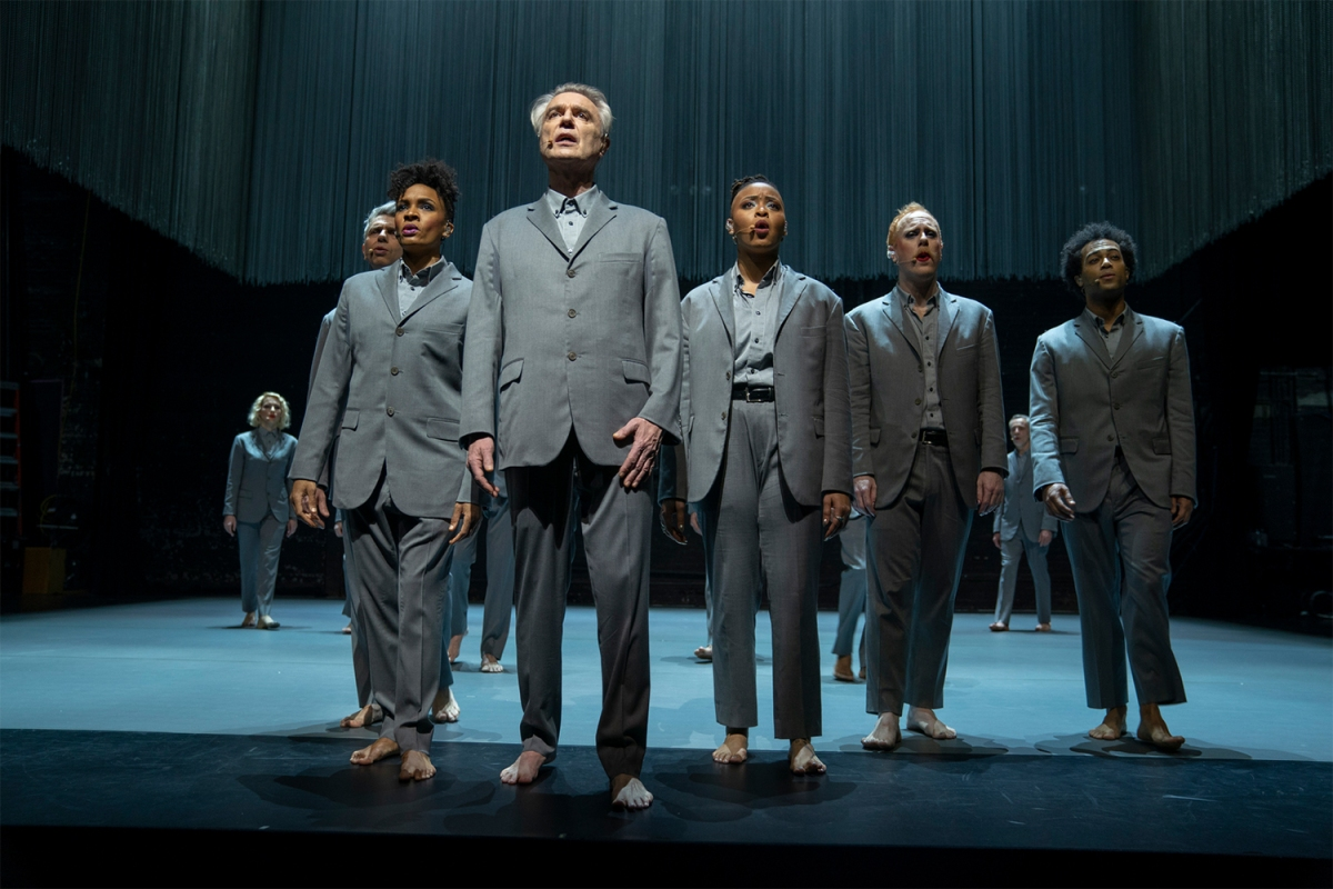 "David Byrne in HBO's adaptation of ""American Utopia"" directed by Spike Lee"
