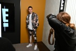 E News co-host Scott Tweedie is spotted in the E! Fashion Studio during NYFW: The Shows at Spring Studios on February 09, 2020 in New York City