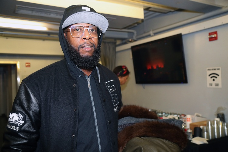 Rapper Talib Kweli appears backstage at City Winery Presents: Harry Belafonte's 93rd Birthday Celebration at The Apollo Theater on March 01, 2020 in New York City