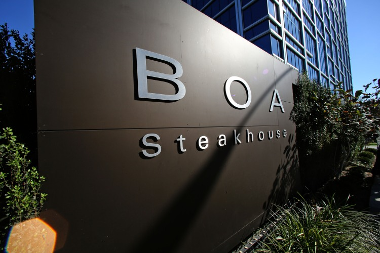 A view of Boa Steakhouse in West Hollywood on September 01, 2014 in Los Angeles, California. (Photo by FG/Bauer-Griffin/GC Images)