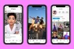 Three phones showing Facebook's new Instagram Reels TikTok competitor