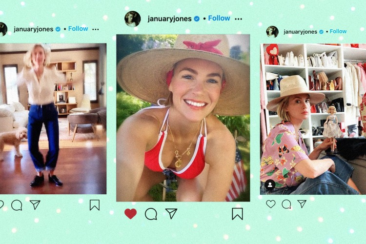 If you're not following January Jones, what are you even doing?