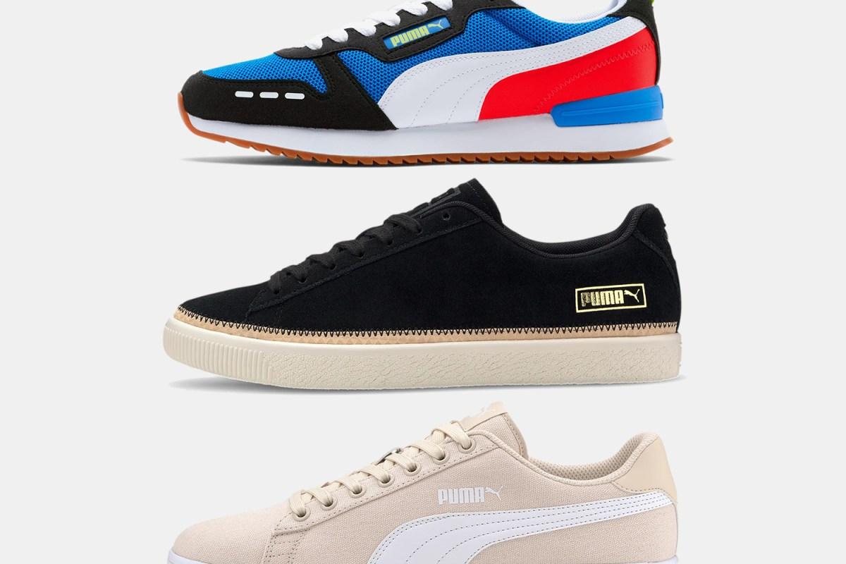 Puma R78, Suede Trim DLX and Smash v2 Canvas men's sneakers