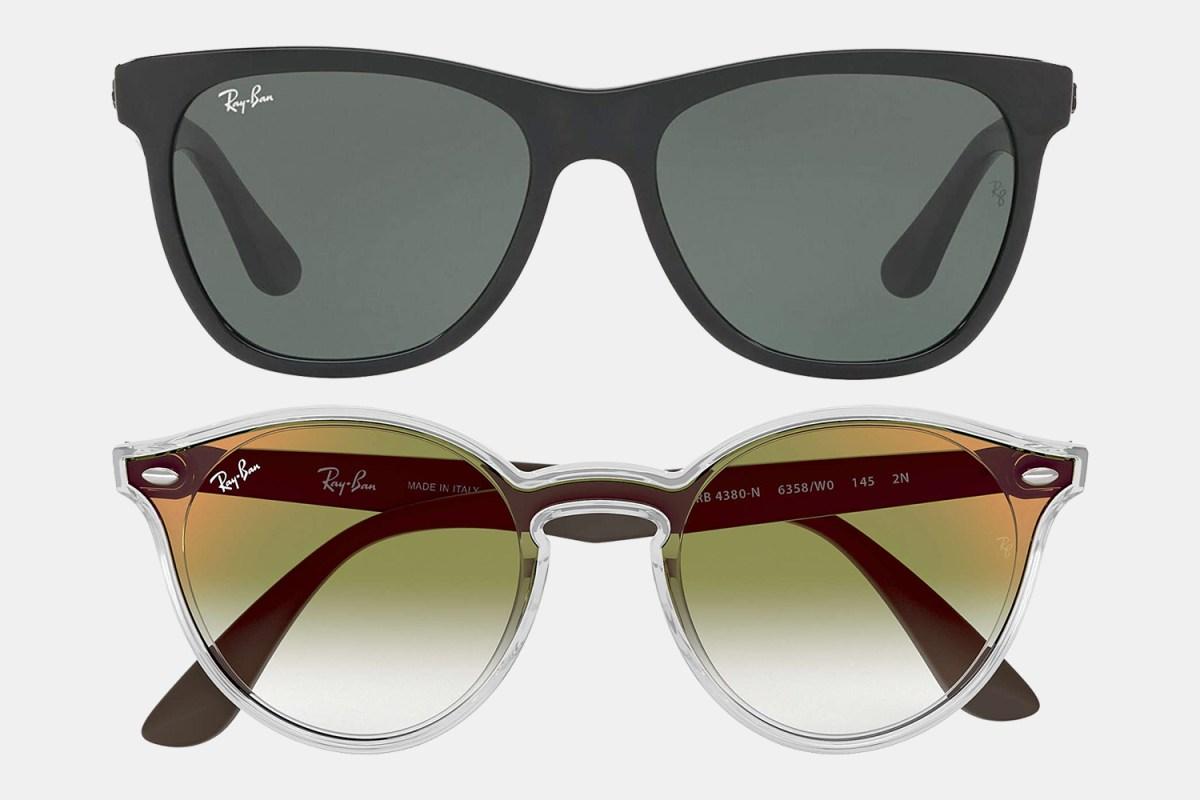 Ray-Ban black and Blaze sunglasses