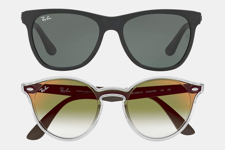 Ray-Ban black and Blaze sunglasses