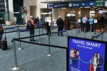 TSA line at Orlando International Airport