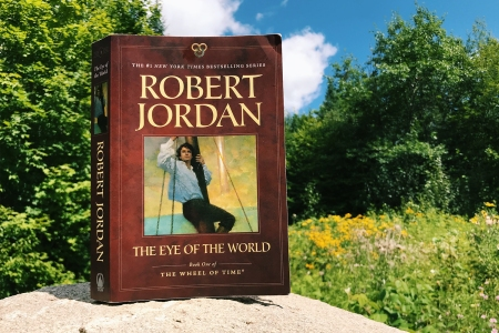 """The Eye of the World"" book from ""The Wheel of Time"" fantasy series by Robert Jordan"