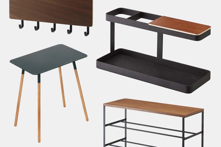 Yamazaki side tables, key racks, desk organizers and shoe racks