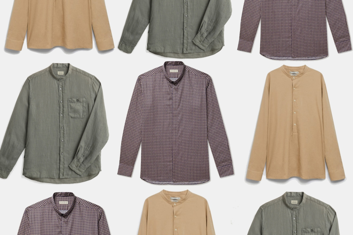 The Band-Collar Shirt Is the Perfect Addition to Your Summer Wardrobe