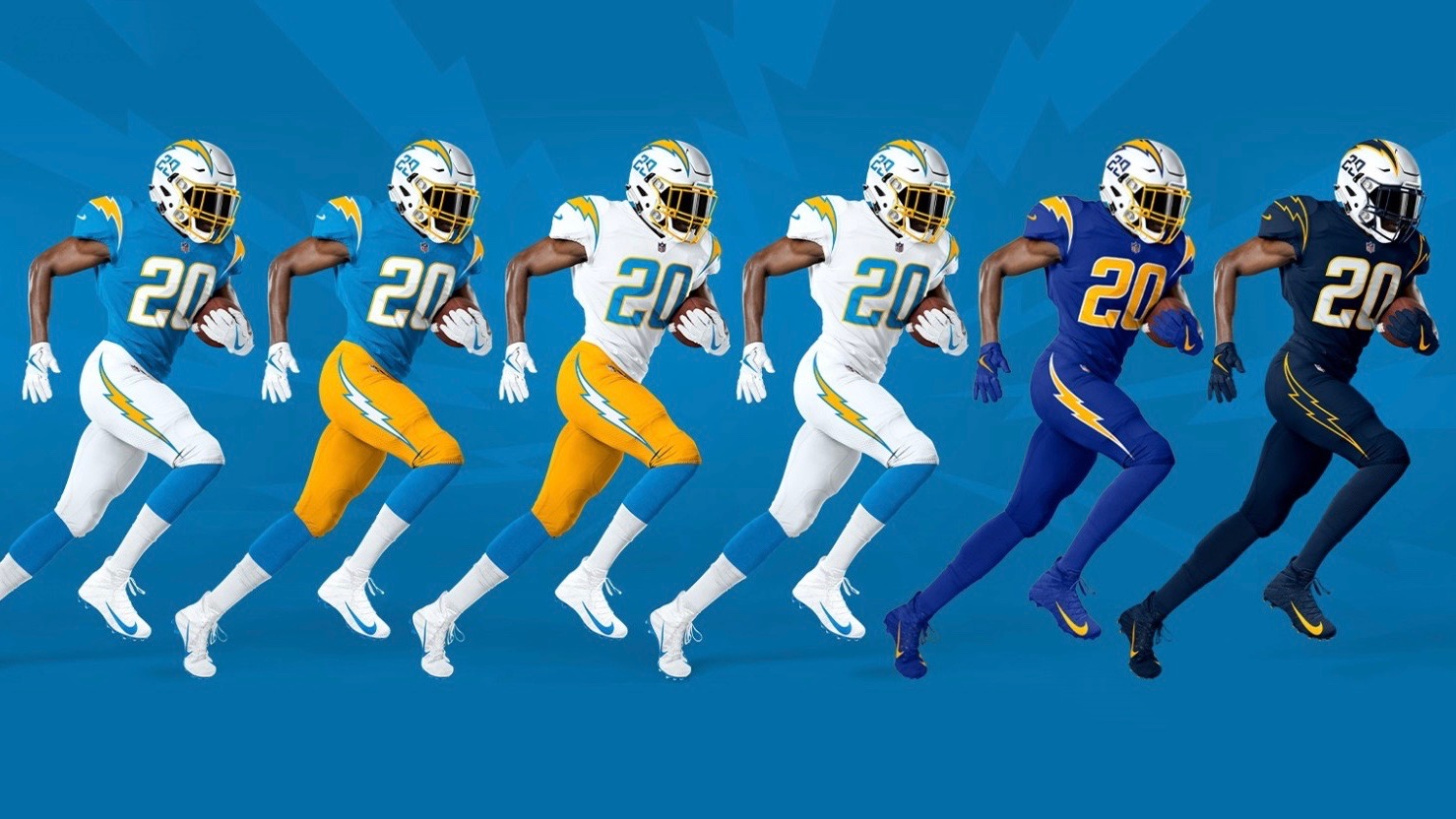 chargers uniforms 2020