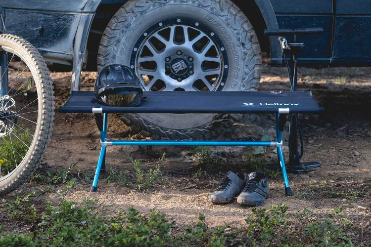 Helinox Just Released the First-Ever Portable Camp Bench