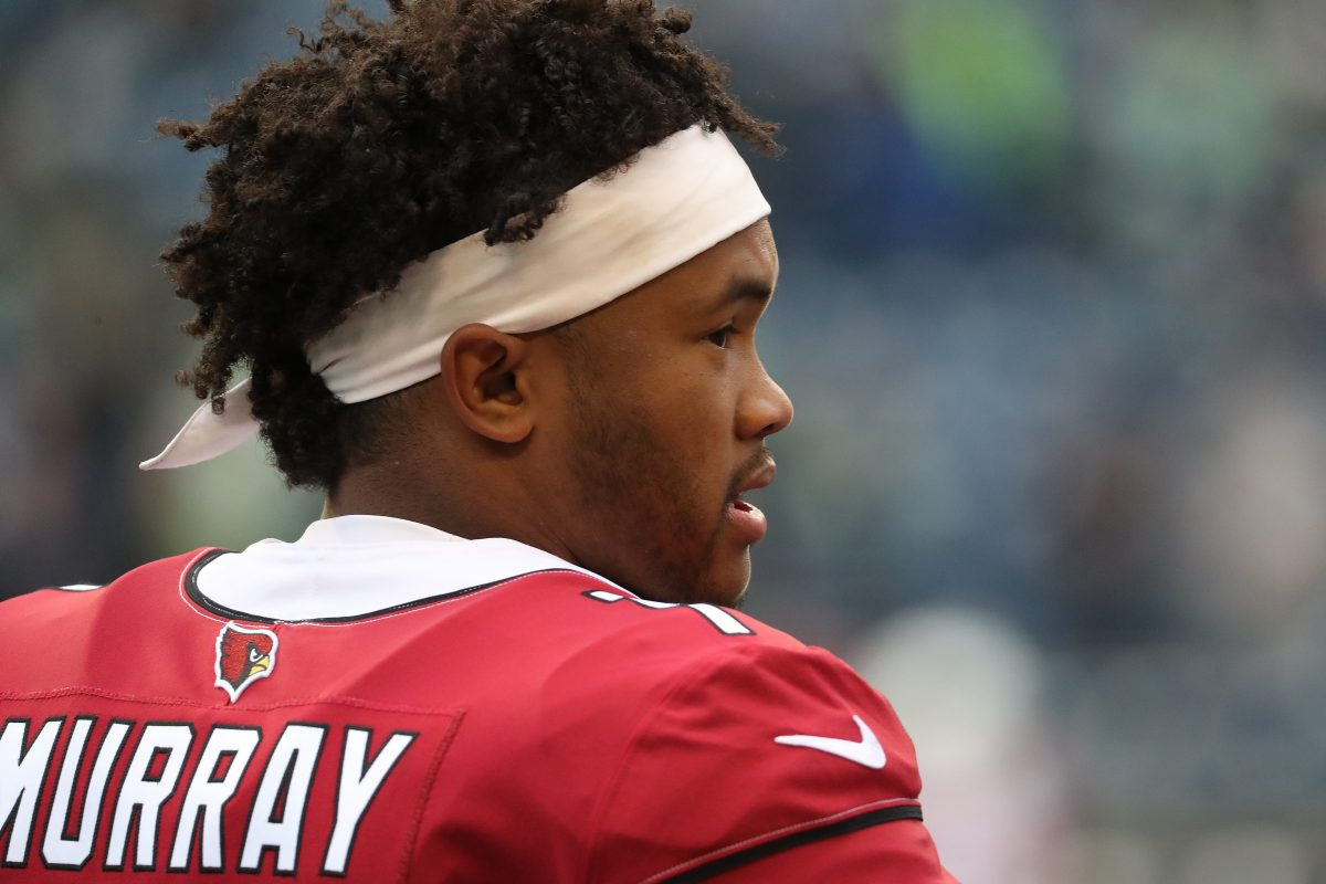 Kyler Murray of the Arizona Cardinals looks on prior to taking on the Seattle Seahawks. (Abbie Parr/Getty)