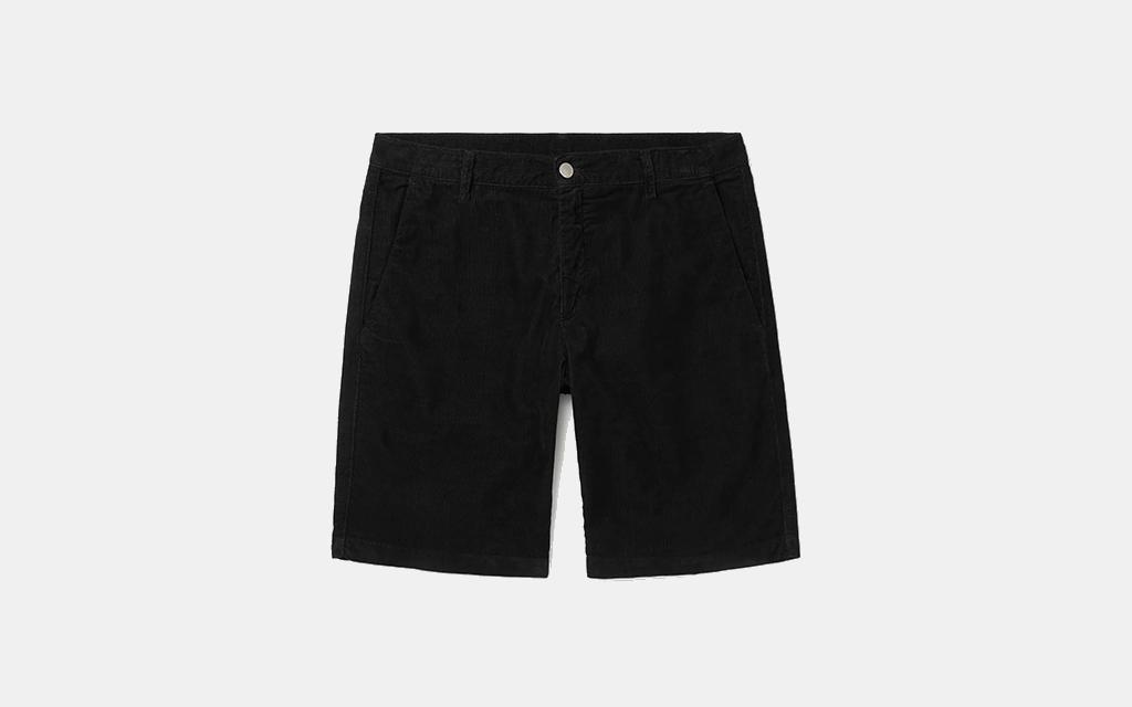 Massimo Alba Vela Cotton-Corduroy Shorts in Black