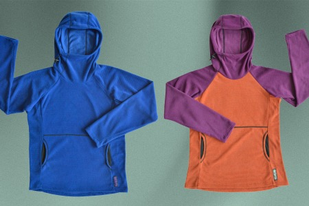 Two Melanzana Micro Grid Hoodies from Leadville, Colorado