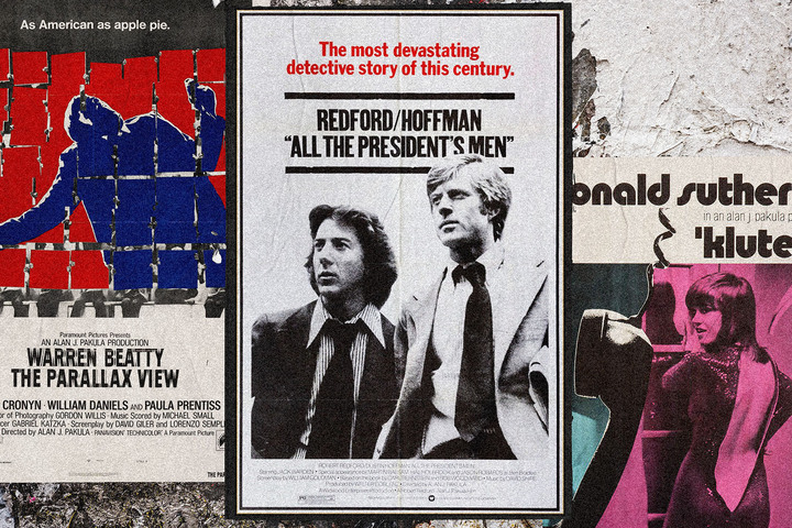 "Alan J. Pakula's 1970s ""paranoia trilogy"" connects to 2020."