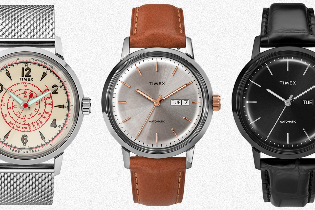 Todd Snyder Beekman watch and two Timex Marlin watches