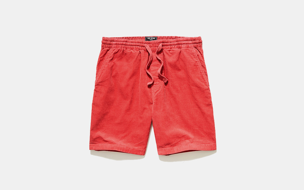 """Todd Snyder 7"""" Corduroy Washed Weekend Short in Chili"""