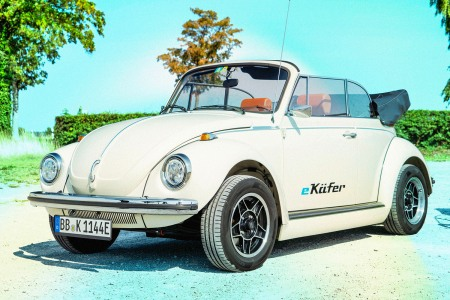 An electric Beetle, or e-Kafer in German, from eClassics and Volkswagen