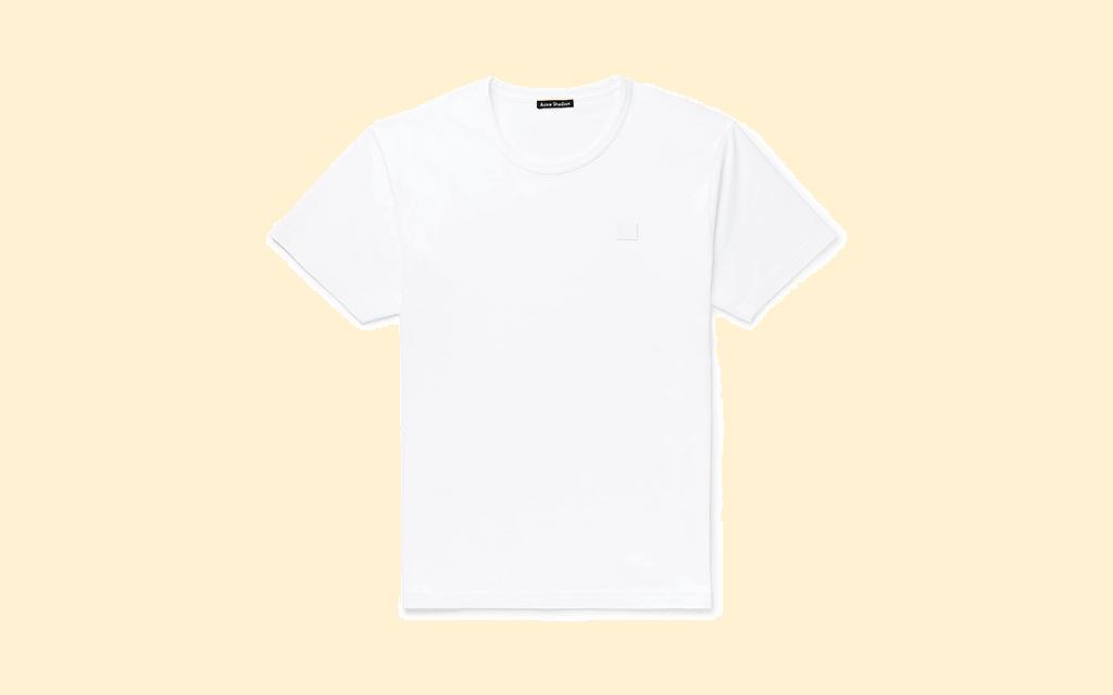 Acne Studios Logo-Appliquéd Cotton-Jersey T-Shirt