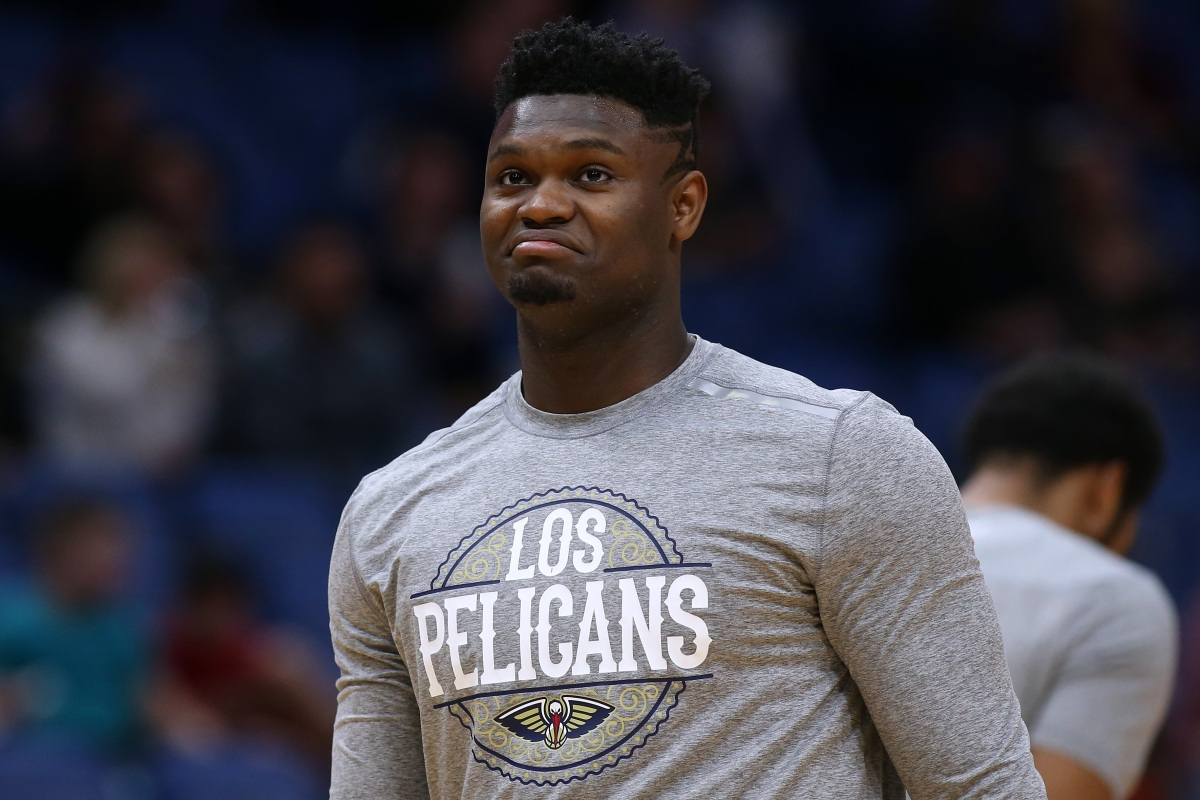 NBA star Zion Williamson of the New Orleans Pelicans in March
