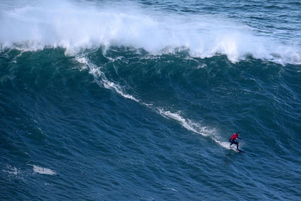 Big Wave Surfing In Nazare