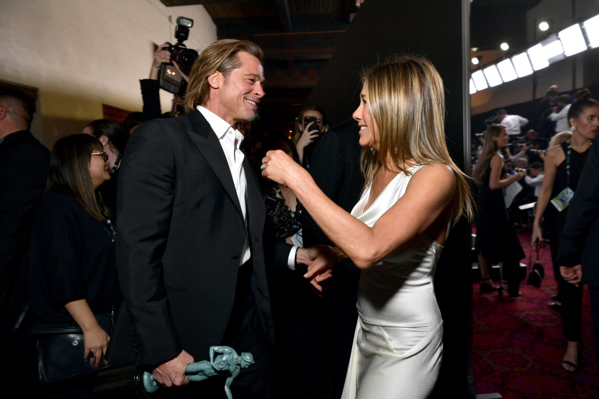 Brad Pitt and Jennifer Aniston attend the 26th Annual Screen Actors Guild Awards at The Shrine Auditorium on January 19, 2020 in Los Angeles, California. (Photo by Emma McIntyre/Getty Images for Turner)