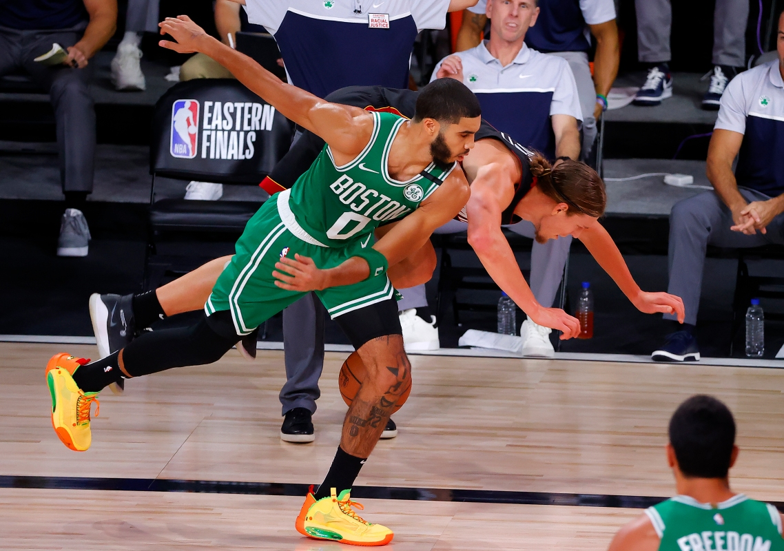 The Celtics defeated the Miami Heat 117-106 in Game Three