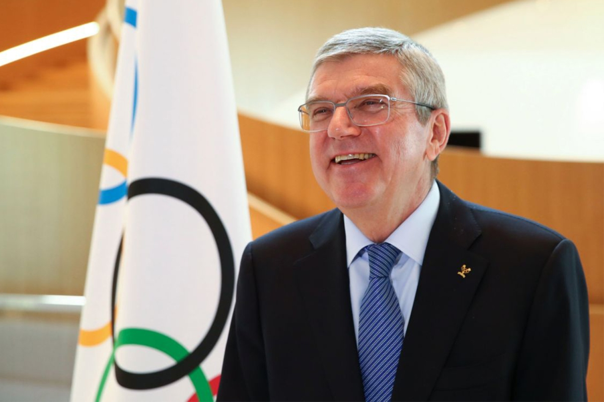 International Olympic Committee president Thomas Bach at a March interview.