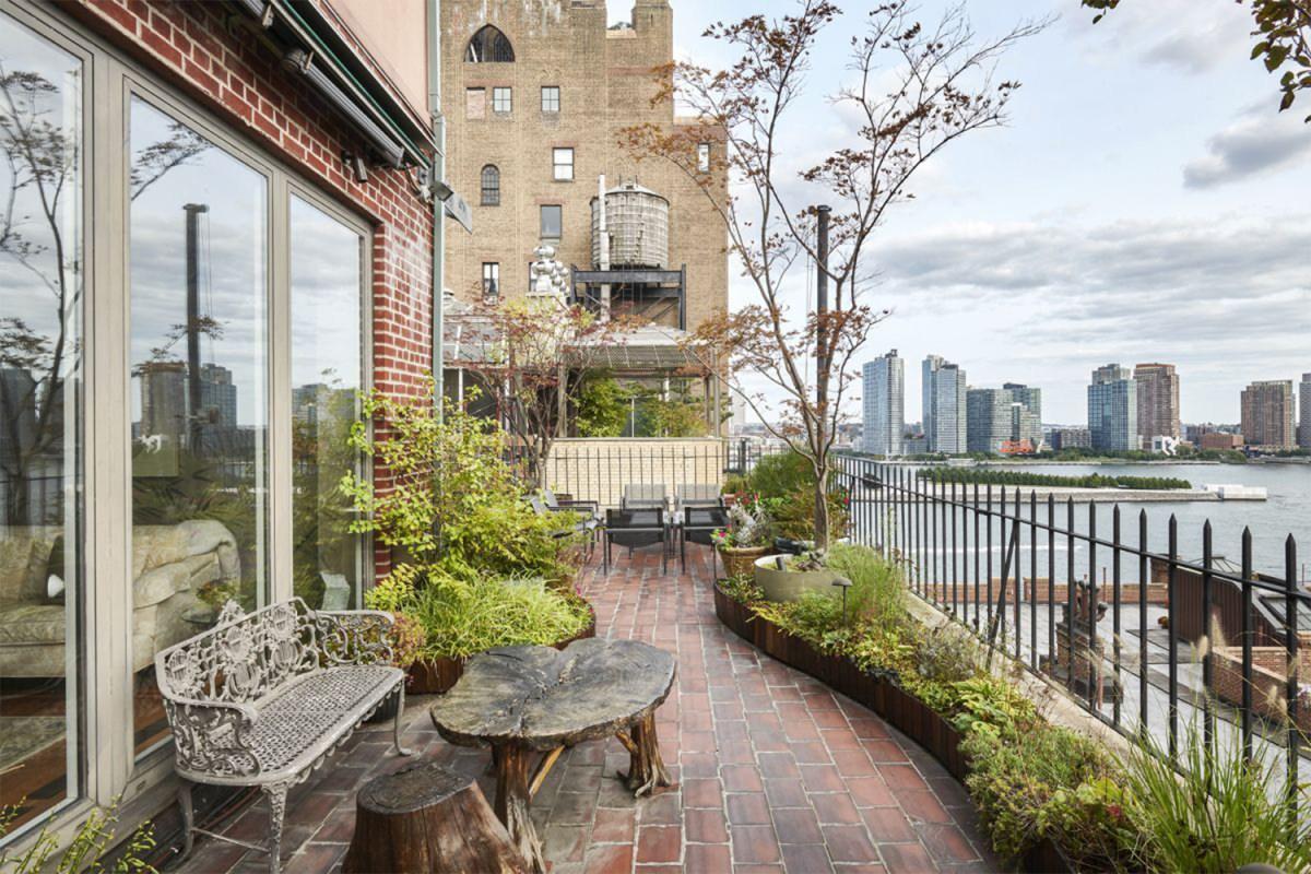 "The terrace of John Lennon's ""Lost Weekend"" penthouse in NYC"