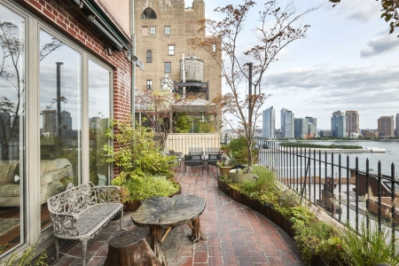 "The terrace of John Lennon's ""Lost Weekend"" penthouse in NYC"