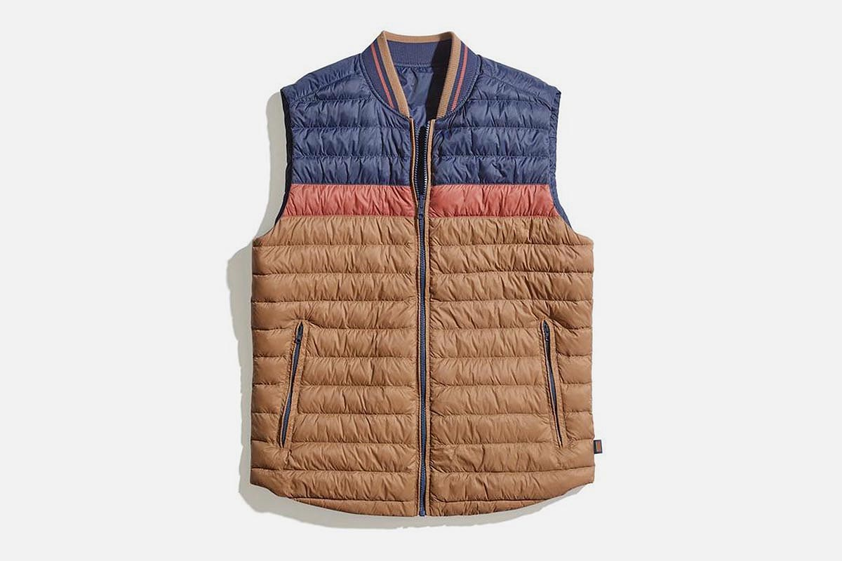 Marine Layer REVERSIBLE Vail Reversible Puffer Vest