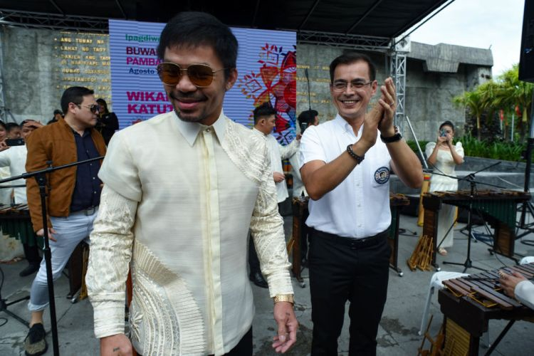 Manny Pacquiao Welcomed By Manila Mayor Isko Moreno Domagoso