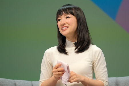 Marie Kondo speaks on stage during the BlueCurrent session at the Cannes Lions 2019