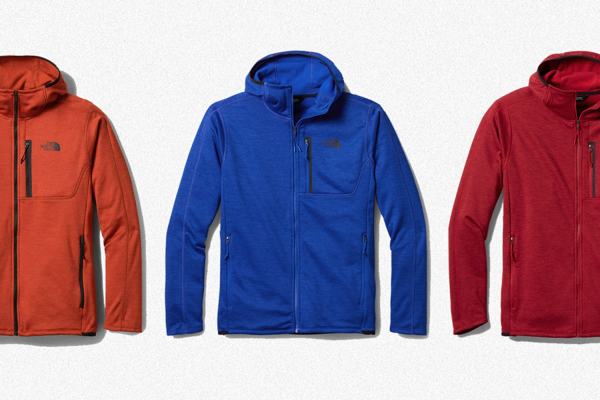 Three men's fleece Canyonlands Hoodies from The North Face
