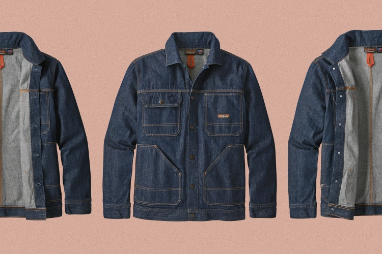 The exterior and interior of the Patagonia Steel Forge Denim Jacket