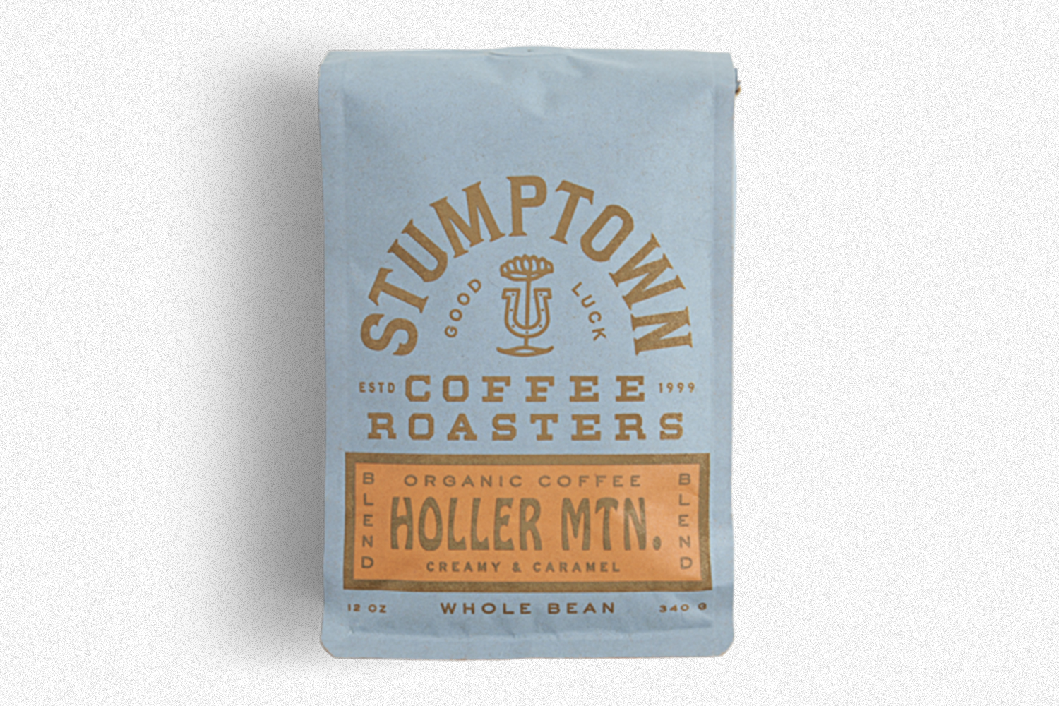 A bag of Holler Mtn. coffee beans from Stumptown