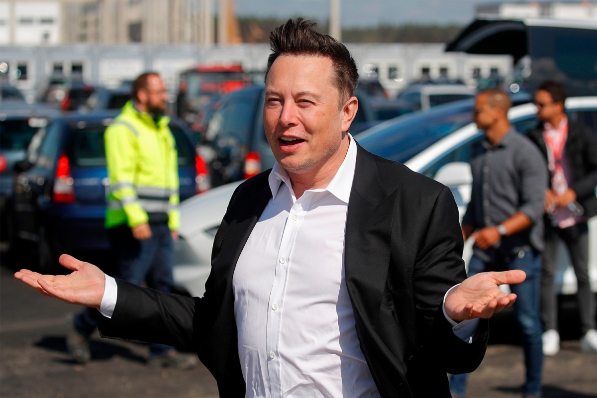Tesla CEO Elon Musk on a recent visit to Germany