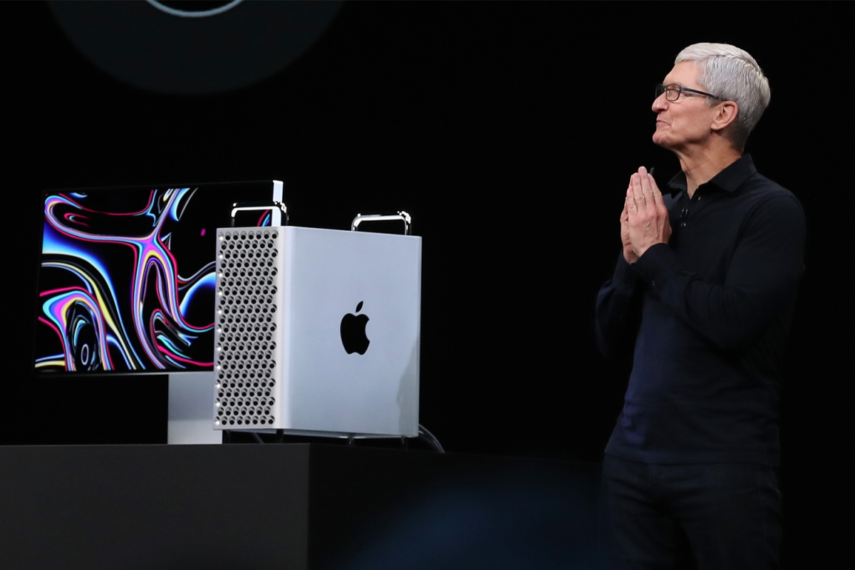 Apple CEO Tim Cook, pictured here at the WWDC in 2019
