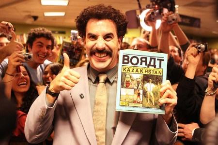 Sacha Baron Cohen playing his character Borat
