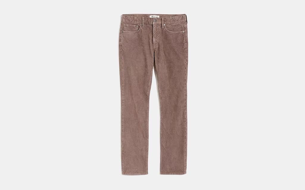 Madewell Straight Corduroy Jeans