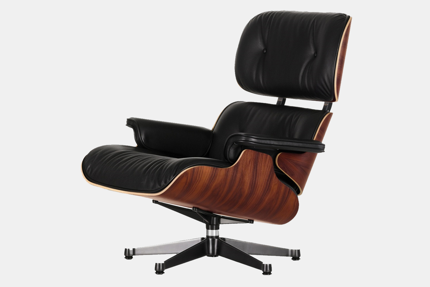Eames Lounge Chair and Ottoman in leather