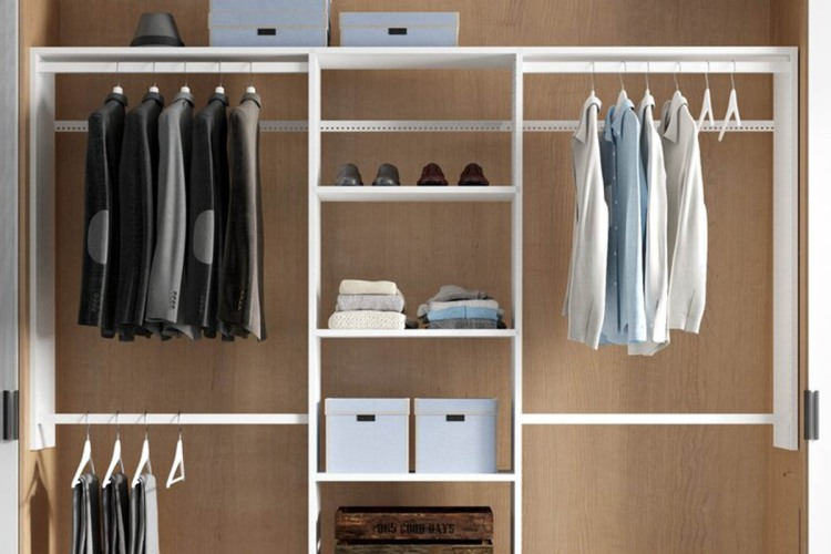 Dotted Line Grid Closet System