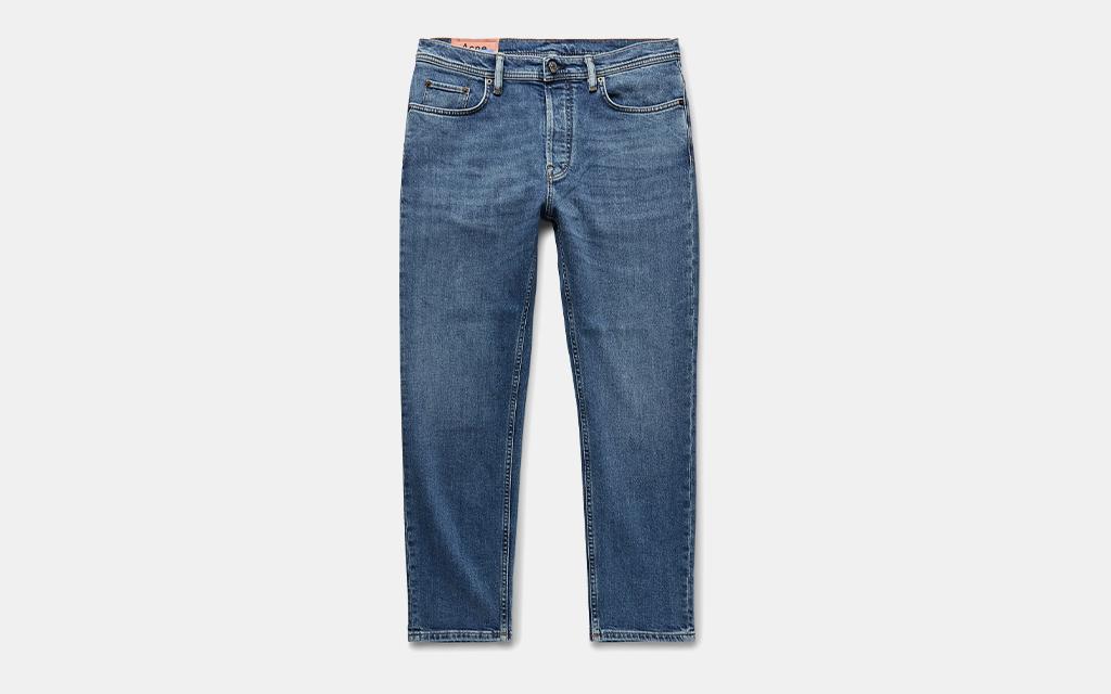 Acne Studios Slim-Fit Tapered Stretch-Denim Jeans
